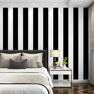 White and black Vinyl Stripes Wallpaper for Children Baby Photography Background 5X7ft Backdrop for Photo Studio Prop