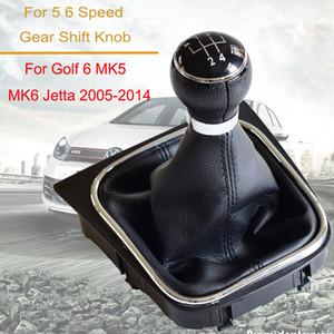 Copertura Accessori auto del cambio Leva pomello del cambio 5 velocità 6 velocità per Volkswagen VW Golf 6 MK6 Per Jetta MK5 Con Ghetta Boot