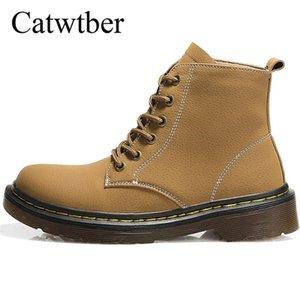 Catwtber Ankle Boots Female Women Shoes Fashion Non-Slip Basic Snow Casual Shoes Women Boots Flats Platform Winter Flock