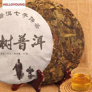 Preferencia 357g de Yunnan Pu'er hecho a mano fermentado, prensado torta del té de Puer crudo té Pu'er Orgánica árbol viejo verde natural Puer El té de Puerh