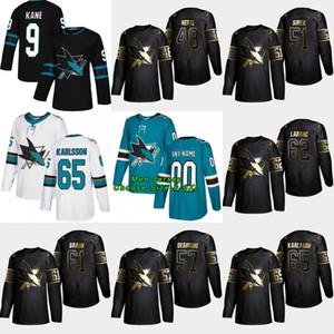 48 Tomas Hertl 2019 Golden Edition San Jose Sharks 61 Justin Braun 57 Nick DeSimone 65 Erik Karlsson 62 Kevin Labanc 51 Radim Simek Jersey