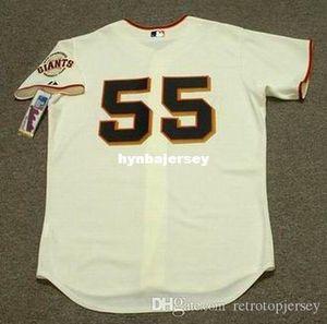 Encargo barato Tim Lincecum San Francisco cosido Majestic Jersey de béisbol retro para hombre jerseys de reproducción