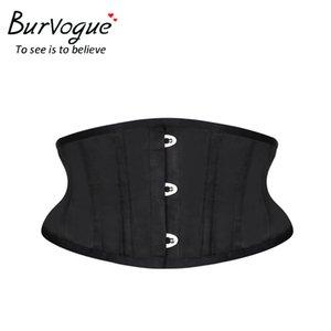Burvogue Women Corset Underbust 26 Steel Boned Satin Corsets and Bustiers Plus Size Waist Trainer Control Belt for Weight Loss MX200506