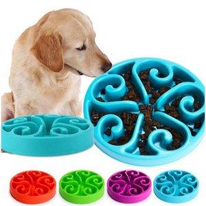 7 colores Pet Dog choke bowl Puppy Slow Eating Bowl Anti Choking Alimentación Agua Plato Slow Eating Feeding antideslizante Bowl 40pcs ENVÍO DE DHL
