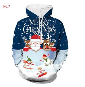 Christmas Mens Designer Hoodies Fashion Brand Hoodies For Mens Sweatshirts With 3D Digital Printing Casual Mens Tops Clothing S-4XL 9 Styles
