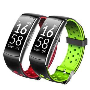 0.96''OLED Schirm Q8 IP68 wasserdichte Smartband Herzfrequenzmesser Smart-Armband Fitness Tracker für Android Phone