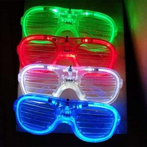 LED ضوء النظارات وميض الستائر شكل نظارات LED فلاش نظارات شمسية رقصات حزب عيد الميلاد لوازم الديكور مهرجان هدية XD21981