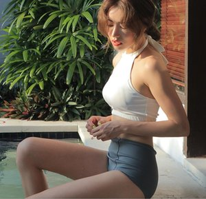 Южнокорейская версия нового купальника, женский раскол высокой талии бикини спортивный стиль, высокая шея купальник, сексуальная