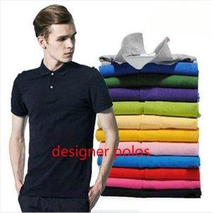 Роскошные мужские дизайнерские Polos Крокодил Летняя мода Вышивка Мужские рубашки поло Марка футболки Мужчины High Street Casual Tops Tee Размер XS-4XL