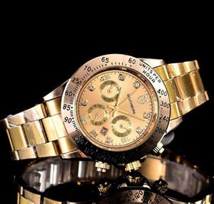 Relogio Masculino Hombre de lujo Ginebra Relojes Vestido Mujer Moda Gold Relojes Pulsera Ladies Designer Relojes de pulsera 3 colores al por mayor