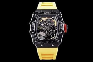 44 millimetri MEN uomo orologio orologio impermeabile RAFA NADAL RAFAEL NTPT CARBONIO RM35-02 35-02 KV KVF V3 MIGLIORE QUALITÀ FORGE SPORT automatica orologi