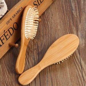 Labra la herramienta del pelo Masaje Cuidado mayor del precio barato de bambú natural del cepillo de pelo sano Peines antiestático Detangling Airbag cepillo para el pelo
