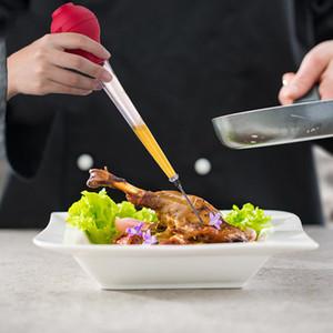 BBQ Inyector de carne Aves Pavo Pollo Adobado Inyector Sabor Jeringa Salsa de cocina Herramienta de inyección Accesorios de cocina con cepillo