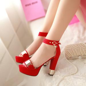 Sıcak Satış-yaz bayanlar sapatos mulher schoenen vrouw yüksek topuklu shoes femme zapatos mujer sandalet kadın ayakkabı sandalias femme T865
