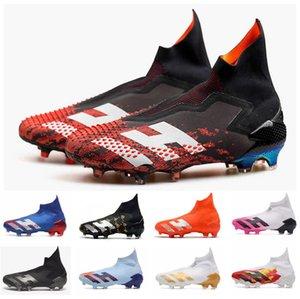 Novos 2020 Sapatos Predator modificador 20 + FG PP Paul Pogba Homens Meninos Deslizamento-na de Futebol Futebol tamanho 20 + x Grampos botas de tornozelo baratos 39-45