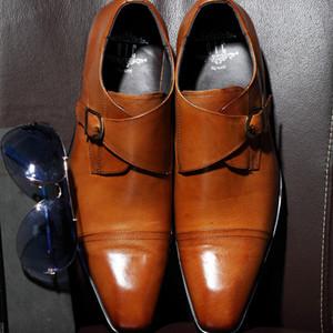 Charm2019 Correct Affairs Robe Homme Chaussure Angleterre Trois Joint en Peau de vache Véritable Place Chalaza Version Européenne Homme Chaussures En Cuir Marée Jaune