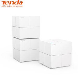 Сетевая гигабитная система Tenda Nova MW6 для всей домашней сети с беспроводным WiFi-маршрутизатором AC1200 2,4 ГГц / 5,0 ГГц и дистанционным управлением приложения