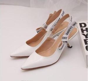 2019 estilo europeu importado senhoras de alta qualidade sandálias de salto alto partido sapatos de moda menina sexy sapatos pontudos sapatos de casamento sandálias