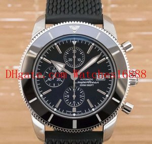 Свободная перевозка груза верхнего качества Superocean Heritage II A1331212 черный циферблат и Rubber Band кварцевый механизм Часы мужские наручные часы