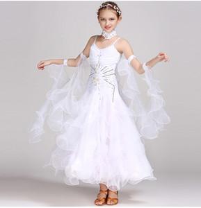 Etek Çocuk Tango Ballroom Dance Dress Dancing Standart Balo Dans Elbise Kız Yüksek Kaliteli Waltz Rekabet