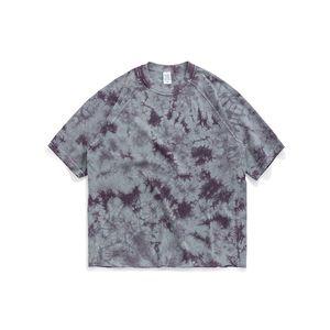 Мужчины 2020 Tie Dye рубашки Patterns майка High Street Мужчины Tie окрашенная Футболка Hip Hop тройники Harajuku Забавные футболки