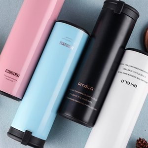 450 ml Meninas de Aço Inoxidável Garrafa De Vácuo Feminino Novo Portátil Mão Copo Coreano Criativo Presente Garrafa De Água Estudante Garrafa Térmica