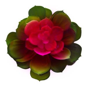 Artificial Suculenta Coração Vermelho Echeveria Lotus Planta Indoor escritório Decor Simulação Red Núcleo