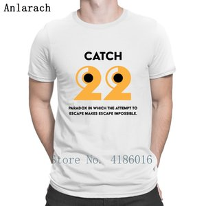 Catch 22 Funny T Shirt Round Neck Male Summer Style Pattern Short Sleeve Famous Authentic Design 5XL T-Shirt