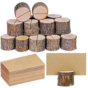 Mariage place Porte-cartes en bois Table Holder Nombre Signifie de soirée de mariage Table Nombre Accessoires de bureau Connexion