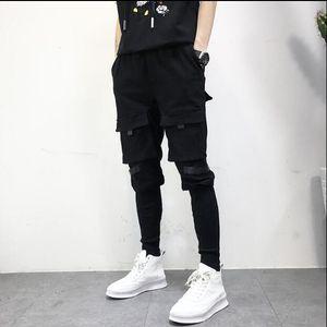 New 2020 Men's clothing GD fashion stylist Hip hop Multi Pocke overalls street Ankle banded pants harem pants costumes
