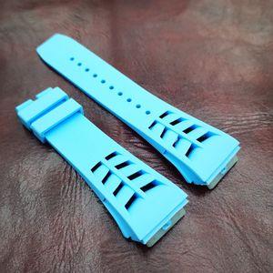 25MM / 20MM الطفل الأزرق أزياء ذات جودة عالية سيليكون / المطاط الشريط باند لRICHAD MILE RM50-03 / 01 RM011 RM-11