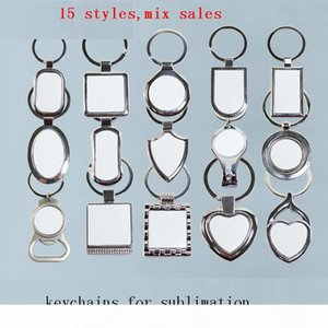 Metal Key Ring For Sublimation Blank Keychain For Heat Transfer Blank Consumable Materials New 15 Styles Kuyg1 10pieces lot MX190816