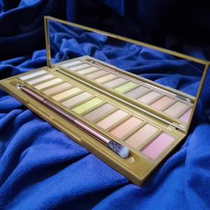 العلامة التجارية ماكياج لوحة ظلال العيون العسل 12 ألوان ظلال العيون NK لوحة مع فرشاة لامع وميض عينيه عارية الشحن المجاني