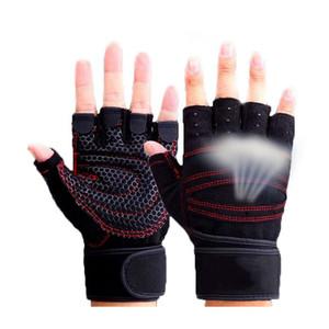 La moitié des doigts Gants de gymnastique Poids lourd Exercice sportif Gants de musculation Formation Bodybuilding Sport