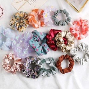 Кишечник волосы кольцо Scrunchies висячего цветочной Группа волос Hairs галстук Женщина Девушка Аксессуары для волоса Hairs диапазон KKA7837