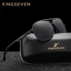 KINGSEVEN neue Aluminiumnagelneue polarisierte Sonnenbrille-Mann-Mode Sonnenbrillen Reise Driving Male Brillen Oculos N7188 CX200706