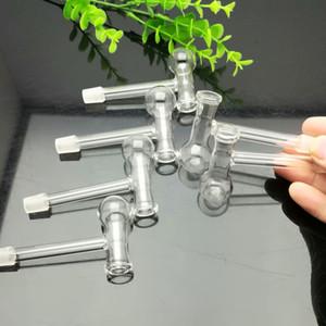 Nueva cocina de vidrio de ángulo recto en forma de T Agua de agua narguile Manija Tubos tubos para fumar Envío de alta calidad
