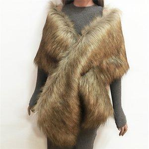 Cabo conejo mantón de calidad superior Lanshifei imitación piel de imitación de piel Bufanda Infinity estilo Nueva Y18102010 Xcvbq