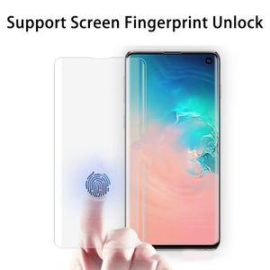 Полный Клей Закаленное Стекло Дело Дружественный 3D Изогнутый Протектор Экрана Для Samsung Galaxy S8 S9 S10 Plus Note 9 Защитная Пленка