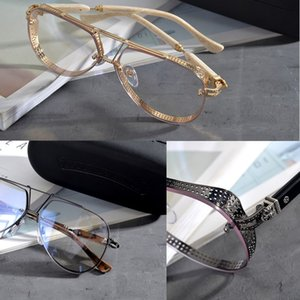 Chrome Марка Оптическая оправа Очки Мужчины Женщины Очки Кадры Мода Личность Очковые оправы Близорукость Очки с Оригинальной Коробке