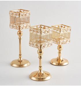 Kristall Hochzeit Tischdekoration Eisen Kerze Handwerk Kerzenständer stehen Hochzeit Requisiten Dekoration Tasse Eisen-Rack Platz Kerze