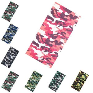 Fashion Camouflage Magic Scarf Outdoor Sports Cycling Sunscreen Neck Cover Washable Mouth Seamless Bandanas Msak DDA100