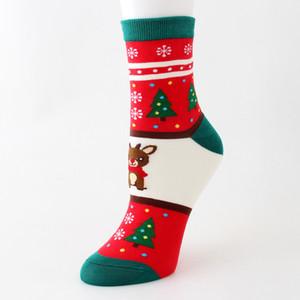 Cartoon Weihnachtssocke Winter-warme Mädchen Strümpfe Persönlichkeit Cartoon Elk Socke Startseite Weihnachtsdeko 5 Stil HH9-1526