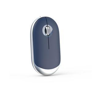 PC Laptop için Bluetooth 4.0 Fare Bilgisayar Kablosuz Mouse İkili Mod Sessiz Şarj edilebilir 2400 DPI Ergonomik Taşınabilir Optik Fare