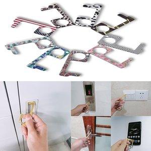 Door Opener Keychain No-Touch Keys Door Opener Closer Portable Stick for Push Elevator Button Keep Hands Clean Self-Cleaning Reusable DA429