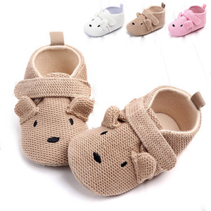 2020New Arrival Toddler Newborn Baby Boys Girls Animal Crib Shoes Infant Cartoon Soft Sole Non-slip Cute Warm Animal Baby Shoes