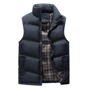 조끼 남성 겨울 스트리트 Bodywarmer 민소매 허리 코트 남성 가을 솔리드 슬림 캐주얼 재킷 농축 Colete Masculino 4XL