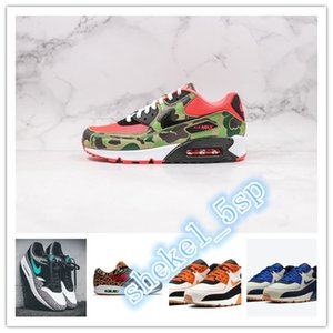2020 MAX 1 Atmos 90s Shoes Trainers Atmos Animal Pack 3.0 Elephant Bred Print max 90 Reverse Duck Camo Sports Designer Sneakers AQ0928-700