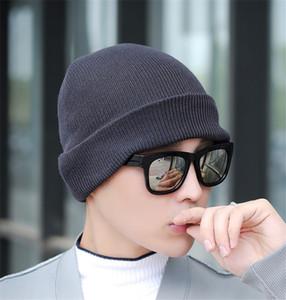 alta qualità delle donne degli uomini per bambini elastici in maglia Cappelli semplice sveglio puro cappello di colore caldo alla moda Berretti Crochet Cappellini Outdoor Slouchy Berretti