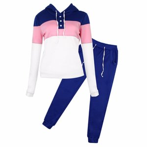 Women Casual Tracksuit Hoodie Sweatshirt Sweater Pants Sports Jogger Outfits Set Comfortable Costume